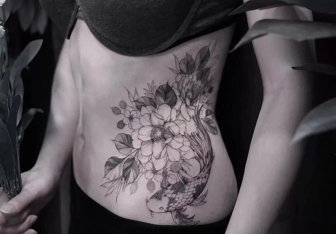 腰侧纹身,腰侧纹身手稿,腰侧纹身手稿图案