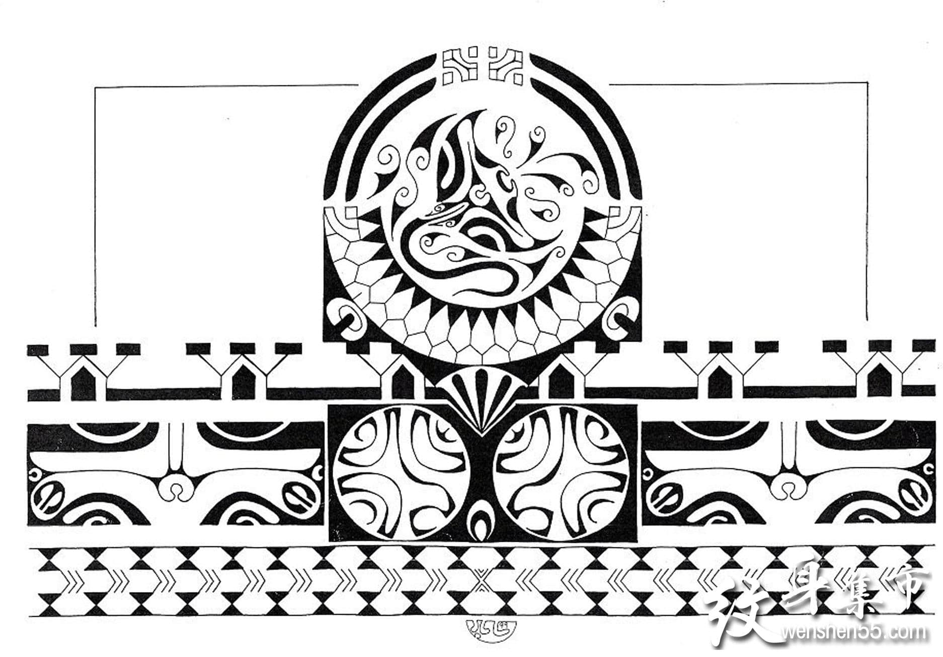 玛雅图腾纹身,玛雅图腾纹身手稿,玛雅图腾纹身手稿图案2