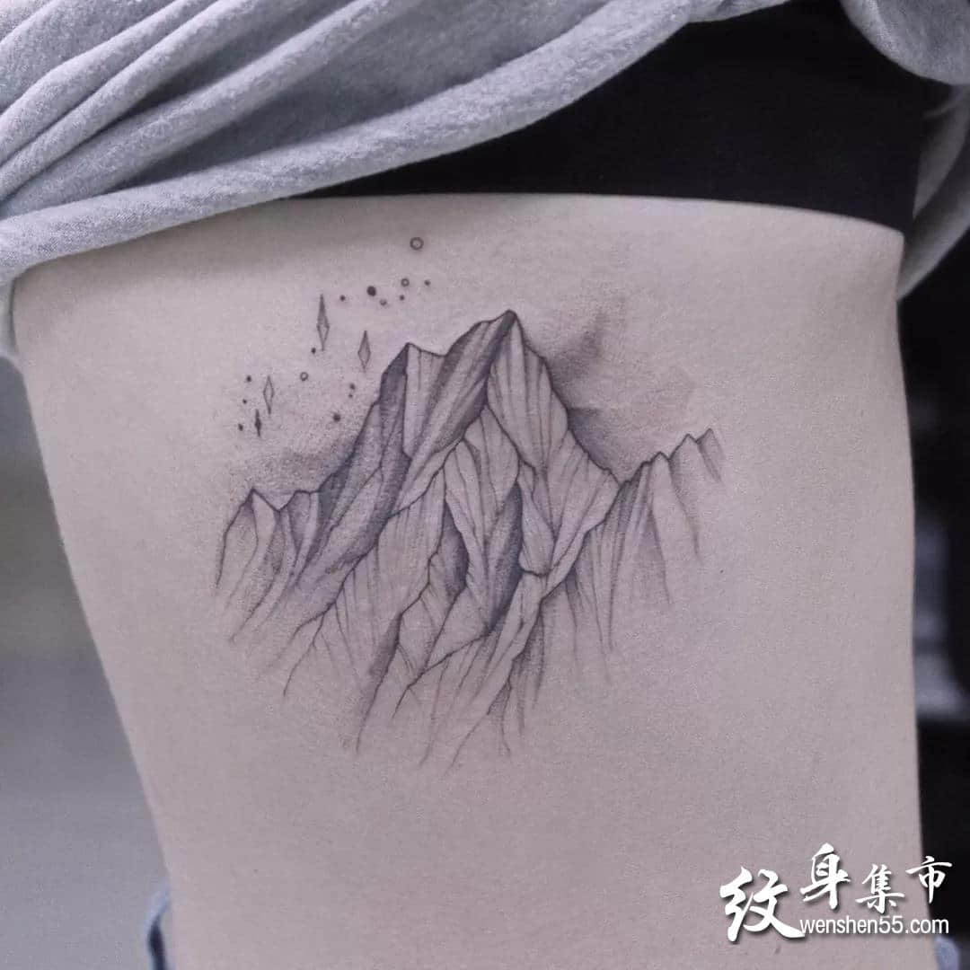素描点刺纹身,素描点刺纹身手稿,素描点刺纹身手稿图案