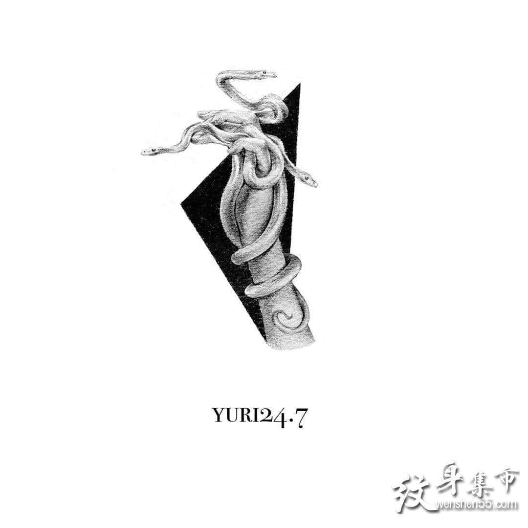蛇纹身,蛇纹身手稿,蛇纹身手稿图案