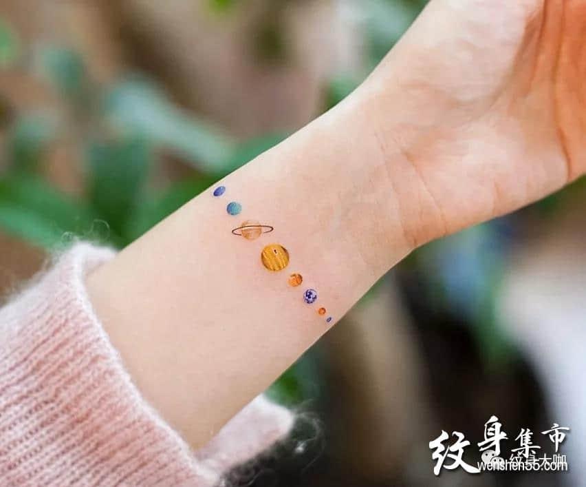 星球纹身,星球纹身手稿,星球纹身手稿图案