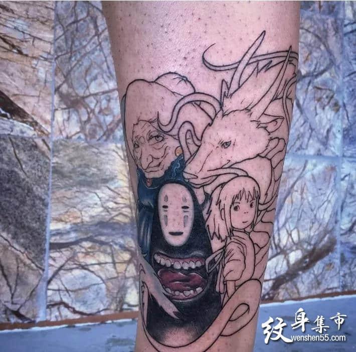 无脸男纹身,无脸男纹身手稿,无脸男纹身手稿图案