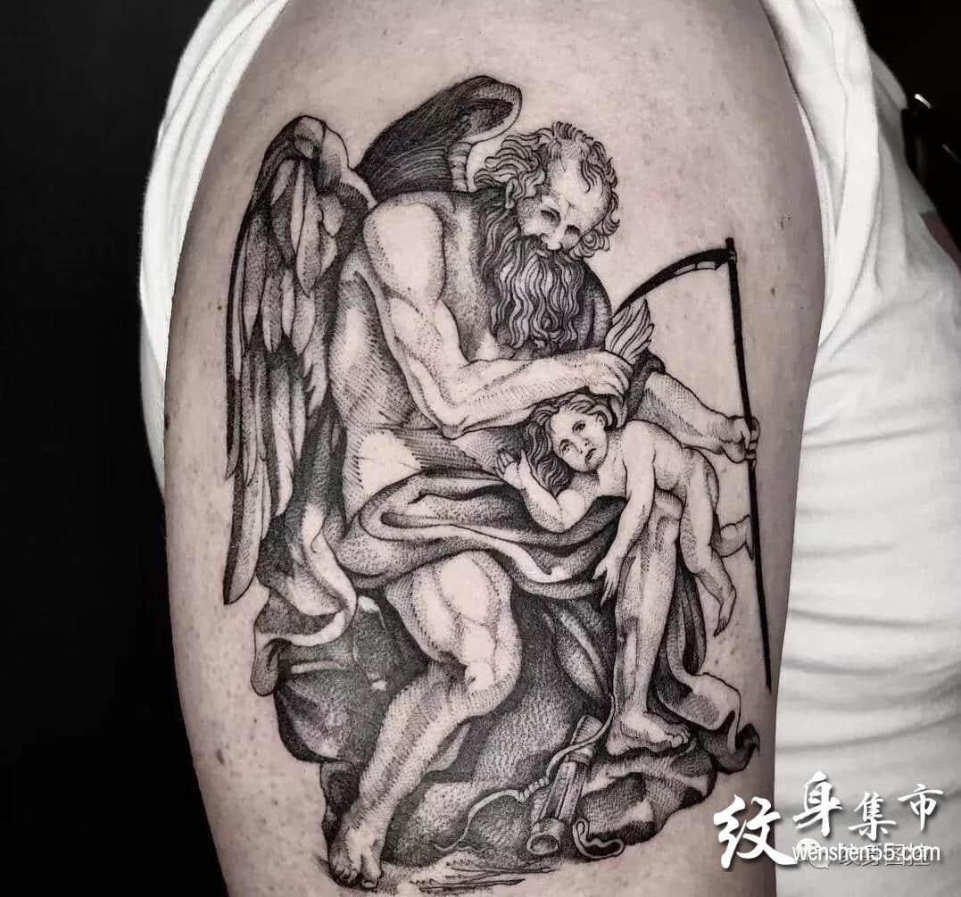 小天使纹身,小天使纹身手稿,小天使纹身手稿图案