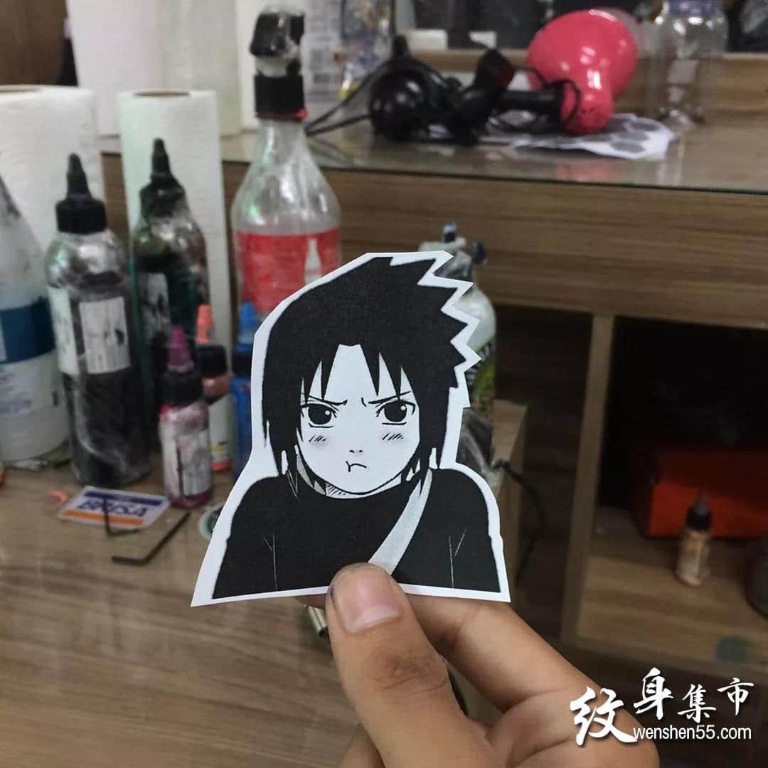 卡通纹身,卡通纹身手稿,宇智波佐助纹身手稿图案