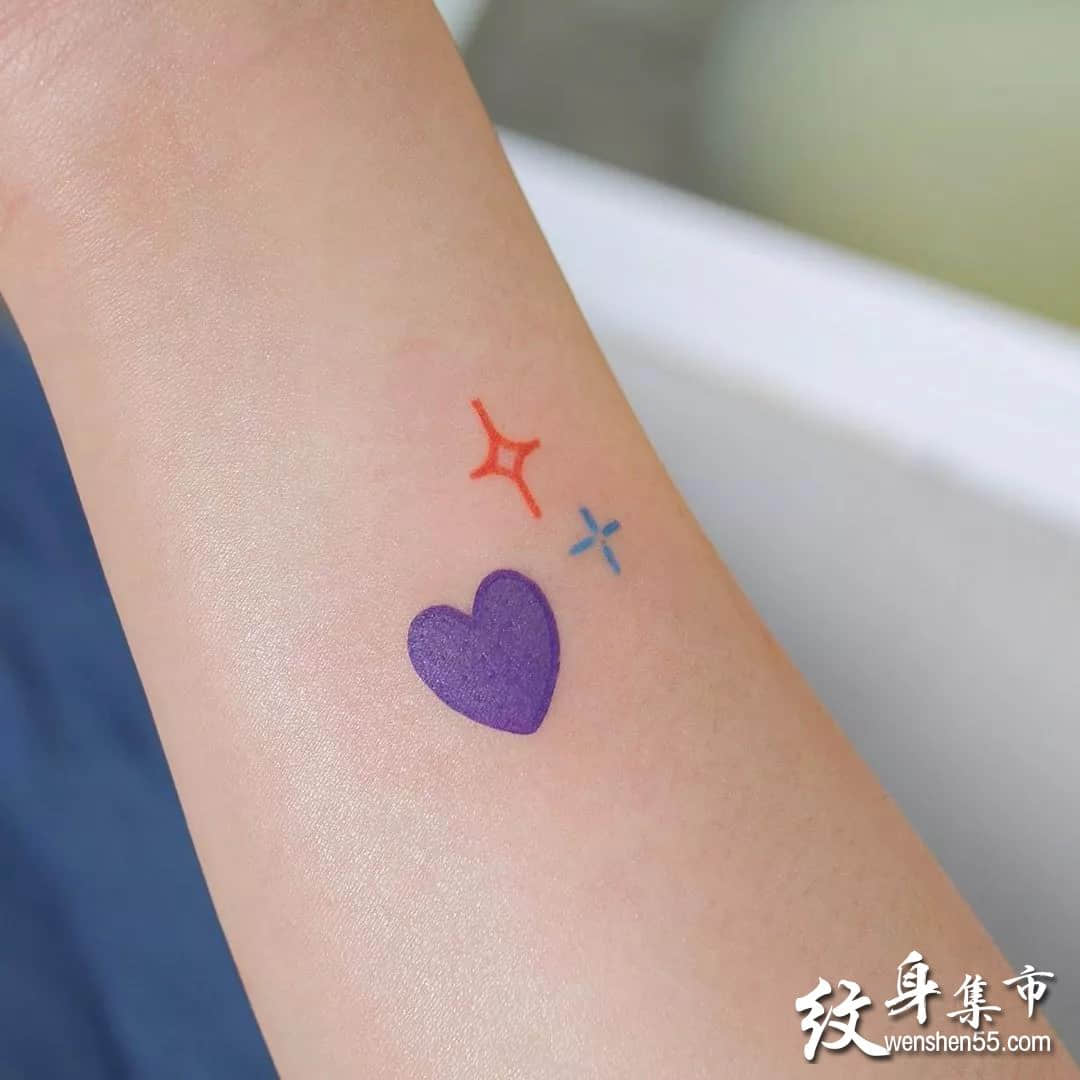 简笔画小清新纹身,简笔画小清新纹身手稿图案