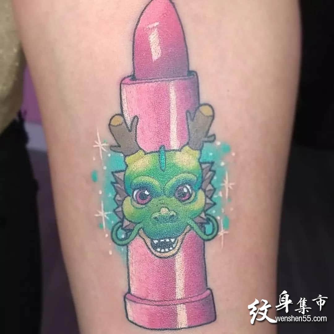 口红纹身,口红纹身手稿,口红纹身手稿图案