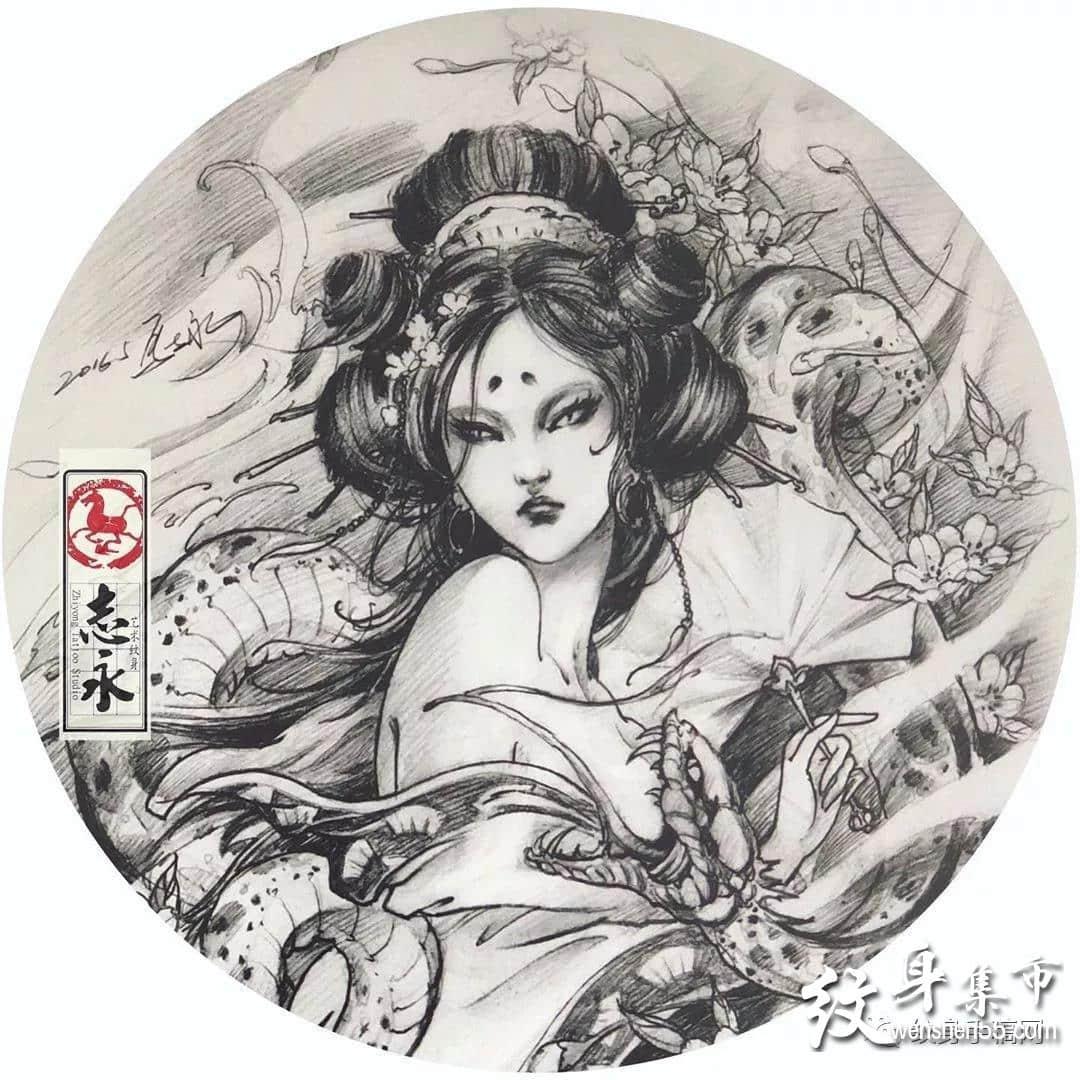 传统纹身,传统纹身手稿,志永传统纹身手稿图案