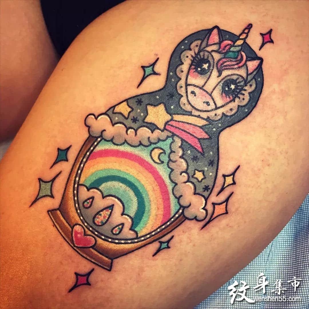独角兽纹身,独角兽纹身手稿,独角兽纹身手稿图案
