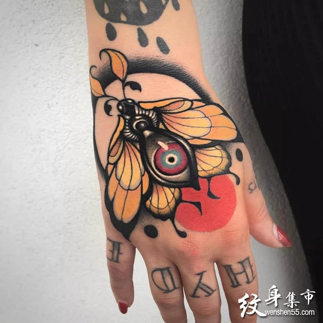 手背纹身,手背纹身手稿,手背纹身手稿图案8