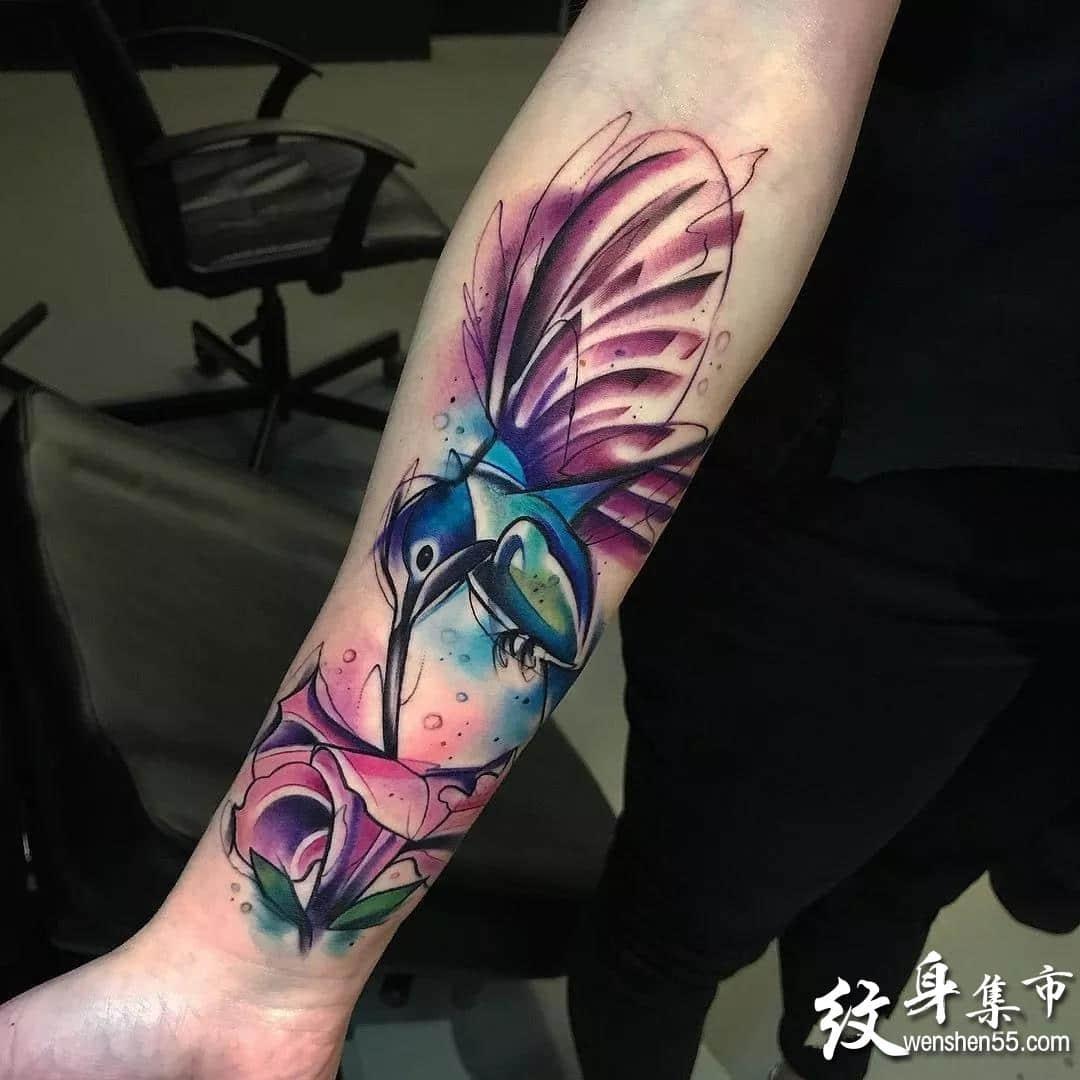 水彩纹身,水彩纹身手稿,水彩纹身手稿图案