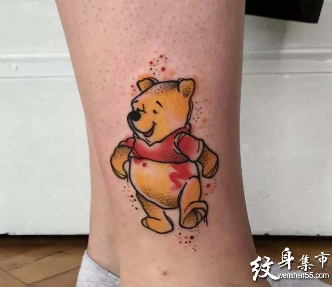 小熊维尼纹身,小熊维尼纹身手稿,小熊维尼纹身手稿图案