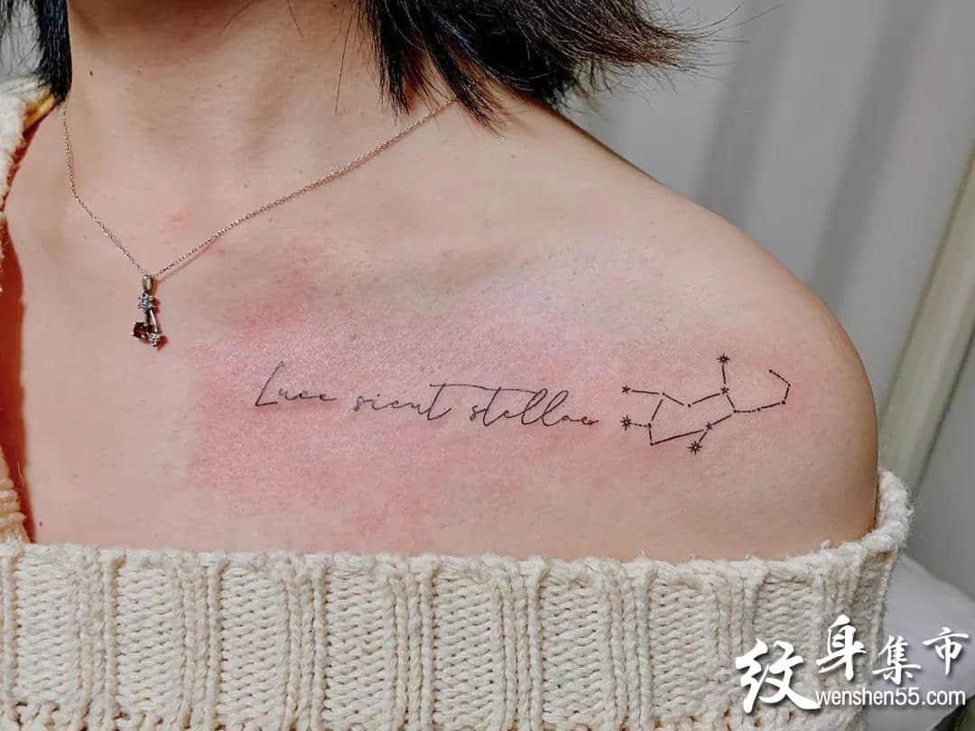 锁骨纹身,锁骨纹身手稿,锁骨纹身手稿图案