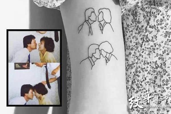 照片简笔画纹身,照片简笔画纹身图案