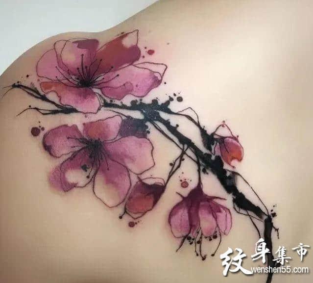 水墨画纹身,水墨画纹身手稿,水墨画纹身手稿图案