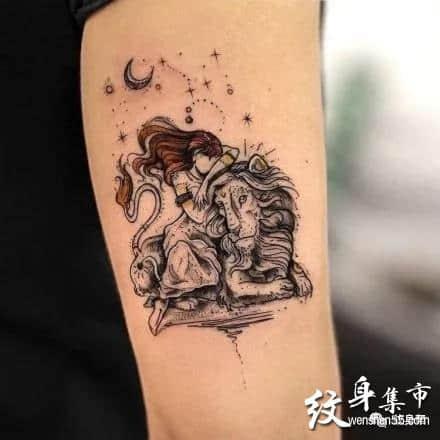 十二星座纹身,十二星座纹身手稿,十二星座纹身手稿图案