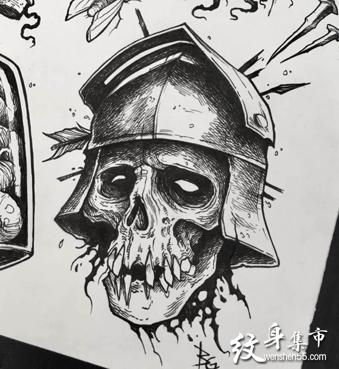 暗黑系纹身,暗黑系纹身手稿,暗黑系纹身手稿图案