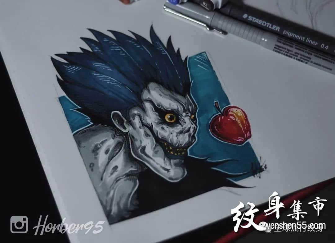 死神琉克纹身,死神琉克纹身手稿,死神琉克纹身手稿图案