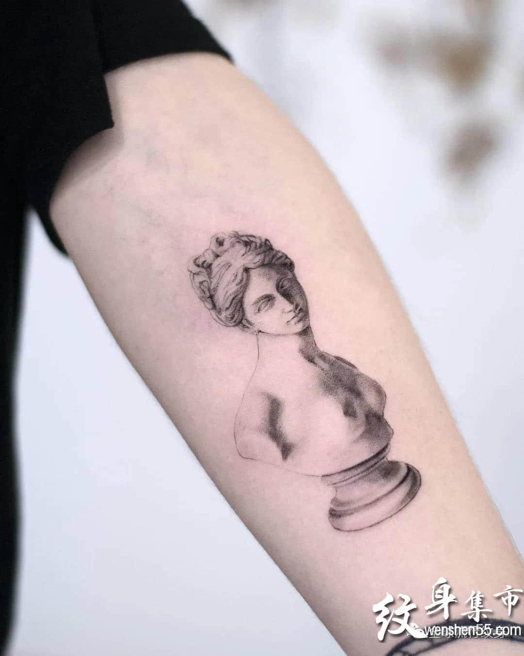 单针素描纹身,单针素描纹身手稿,单针素描纹身手稿图案