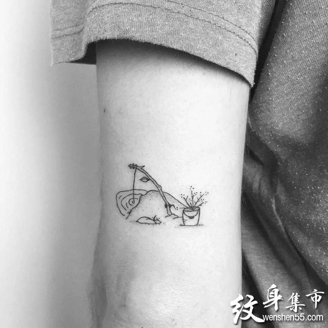 清新纹身小图, 用简单的线条记录回忆