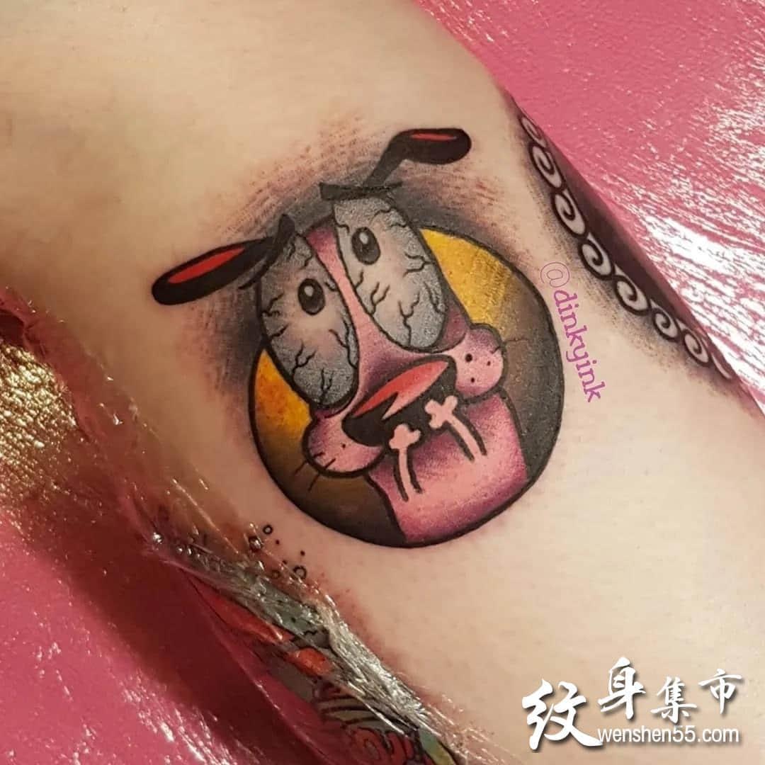 胆小狗纹身,胆小狗纹身手稿,胆小狗纹身手稿图案