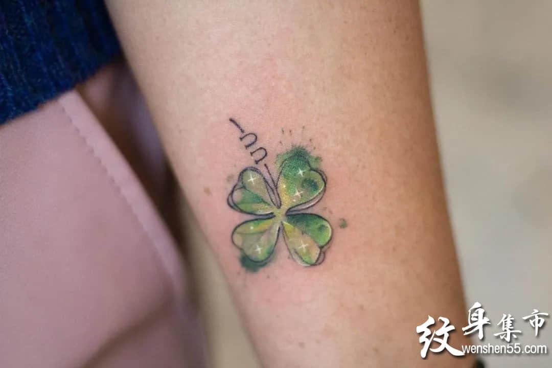 三叶草纹身,三叶草纹身手稿,三叶草纹身手稿图案