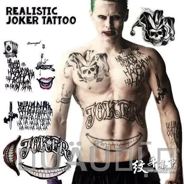 小丑纹身,小丑纹身手稿,小丑纹身手稿图案