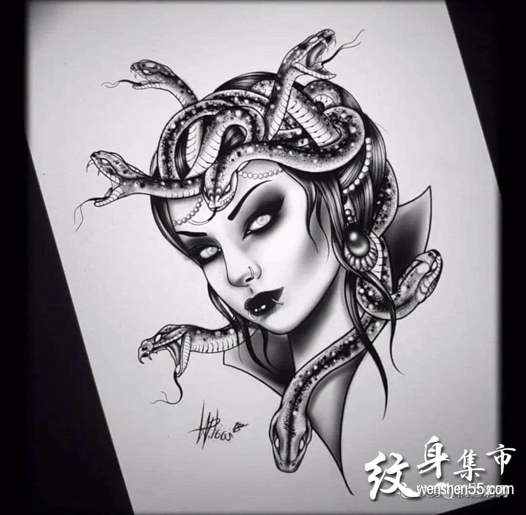 欧美美女纹身,欧美美女纹身手稿,欧美美女纹身手稿图案