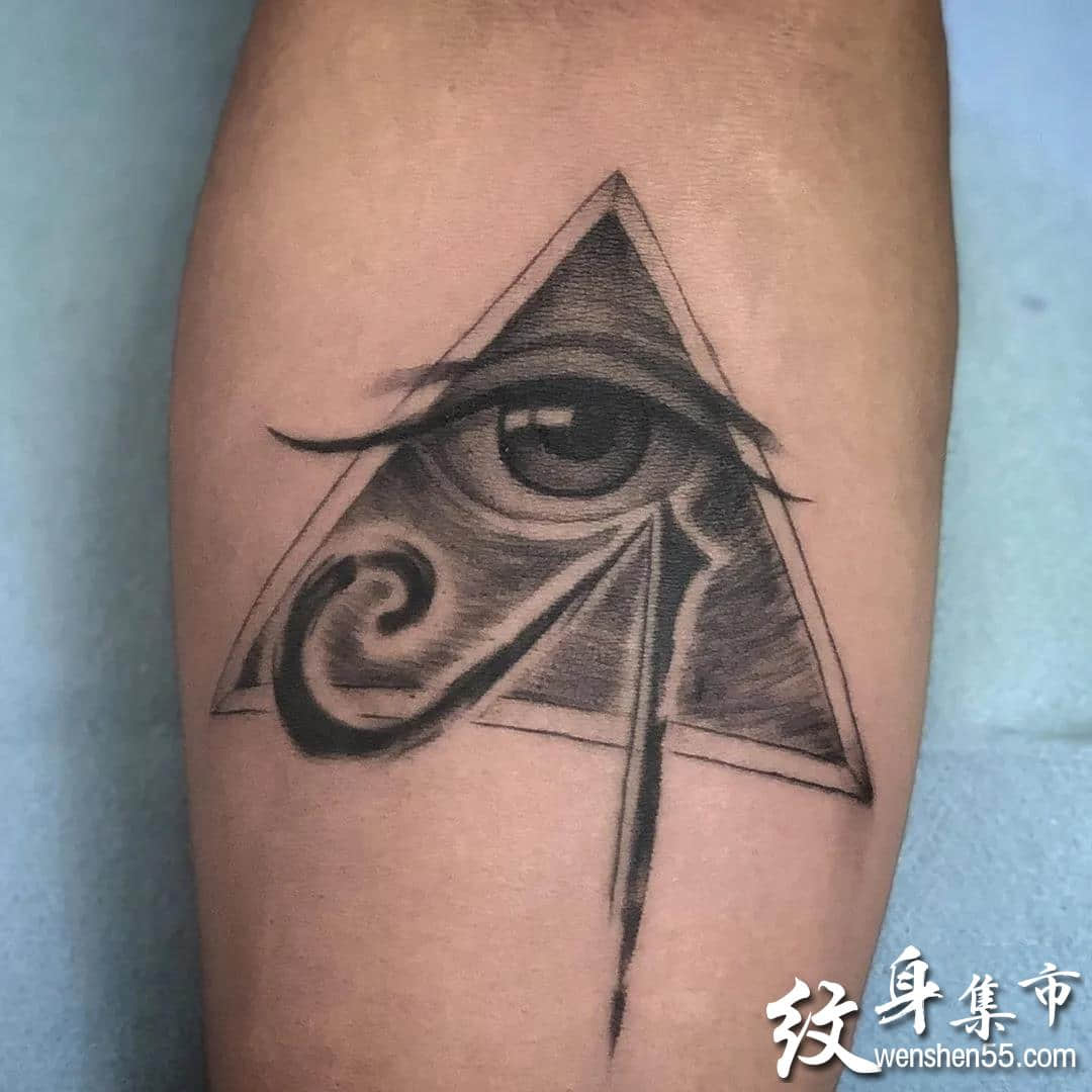 天使之眼纹身,天使之眼纹身手稿,上帝之眼纹身手稿图案