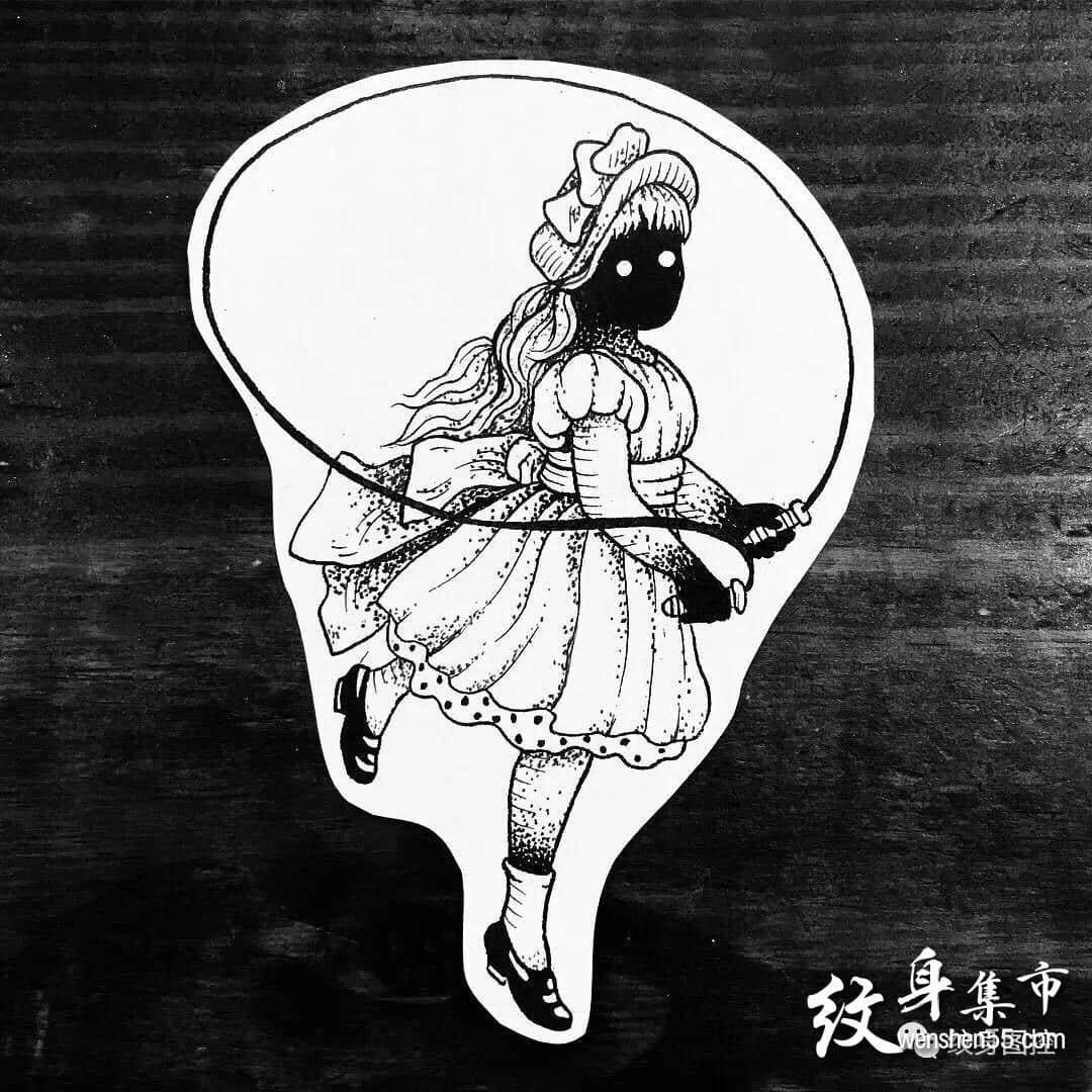 暗黑系小图,暗黑系小图纹身,暗黑系小图手稿图案