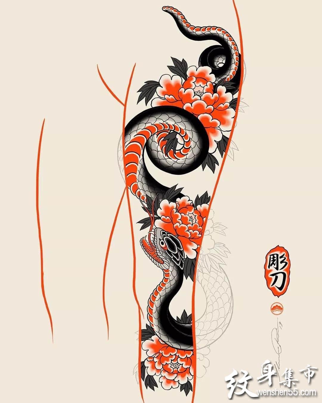 彫刀传统风纹身,彫刀传统风纹身手稿,彫刀传统风纹身手稿图案