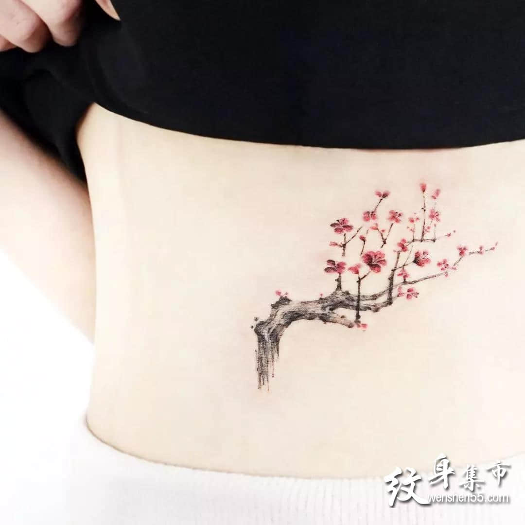梅花纹身,梅花纹身手稿,梅花纹身手稿图案