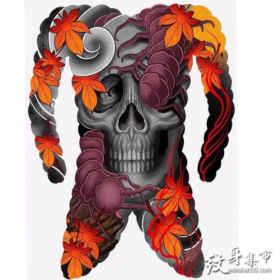 日式通体纹身,日式通体纹身手稿,日式通体纹身手稿图案