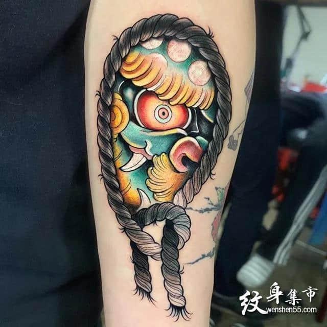 一组适合大臂Newschool纹身手稿图案