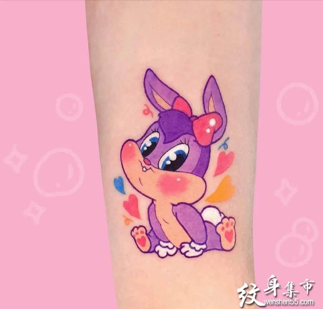 小清新彩色纹身,小清新彩色纹身手稿,小清新彩色纹身手稿图案