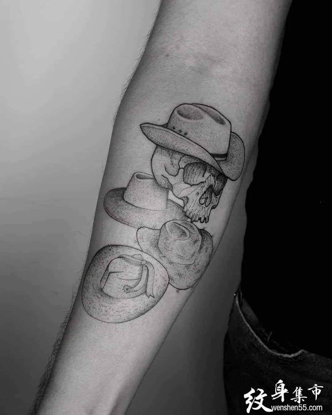 帽子纹身,帽子纹身手稿,帽子纹身手稿图案