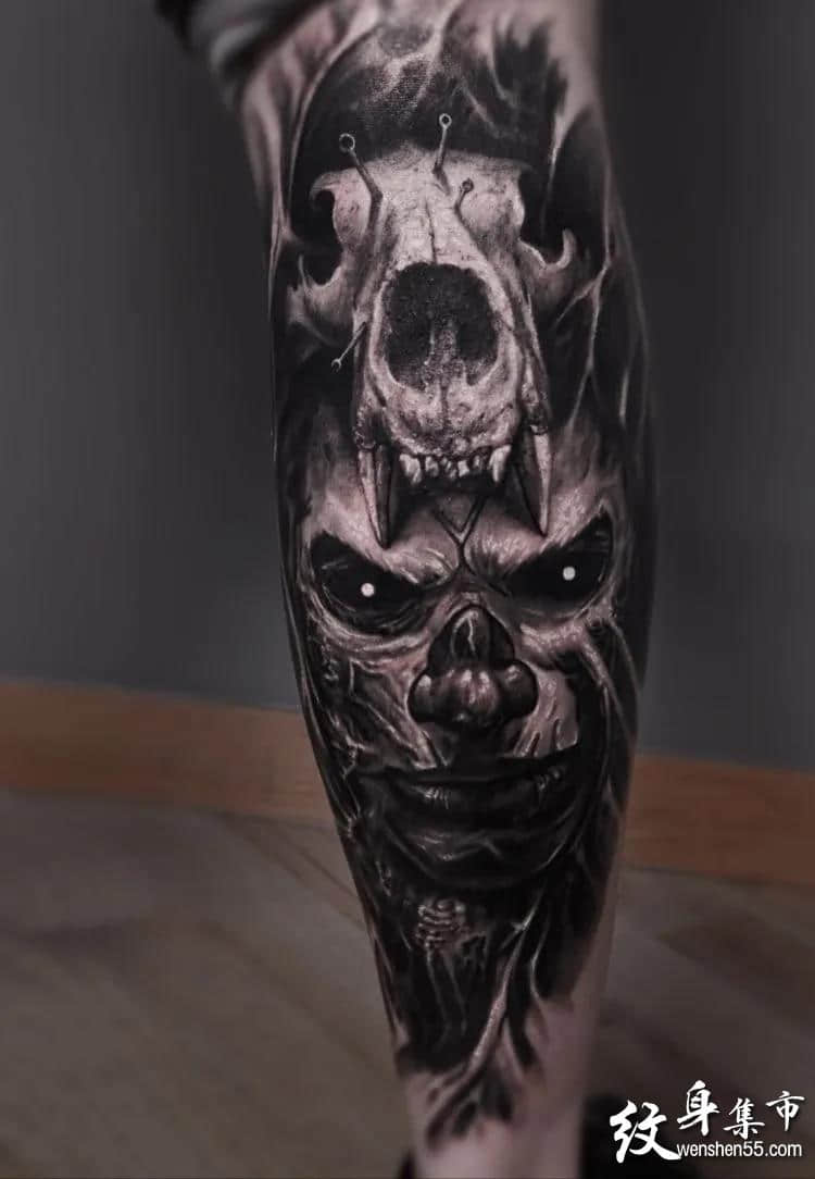 写实骷髅纹身,写实骷髅纹身手稿,写实骷髅纹身手稿图案