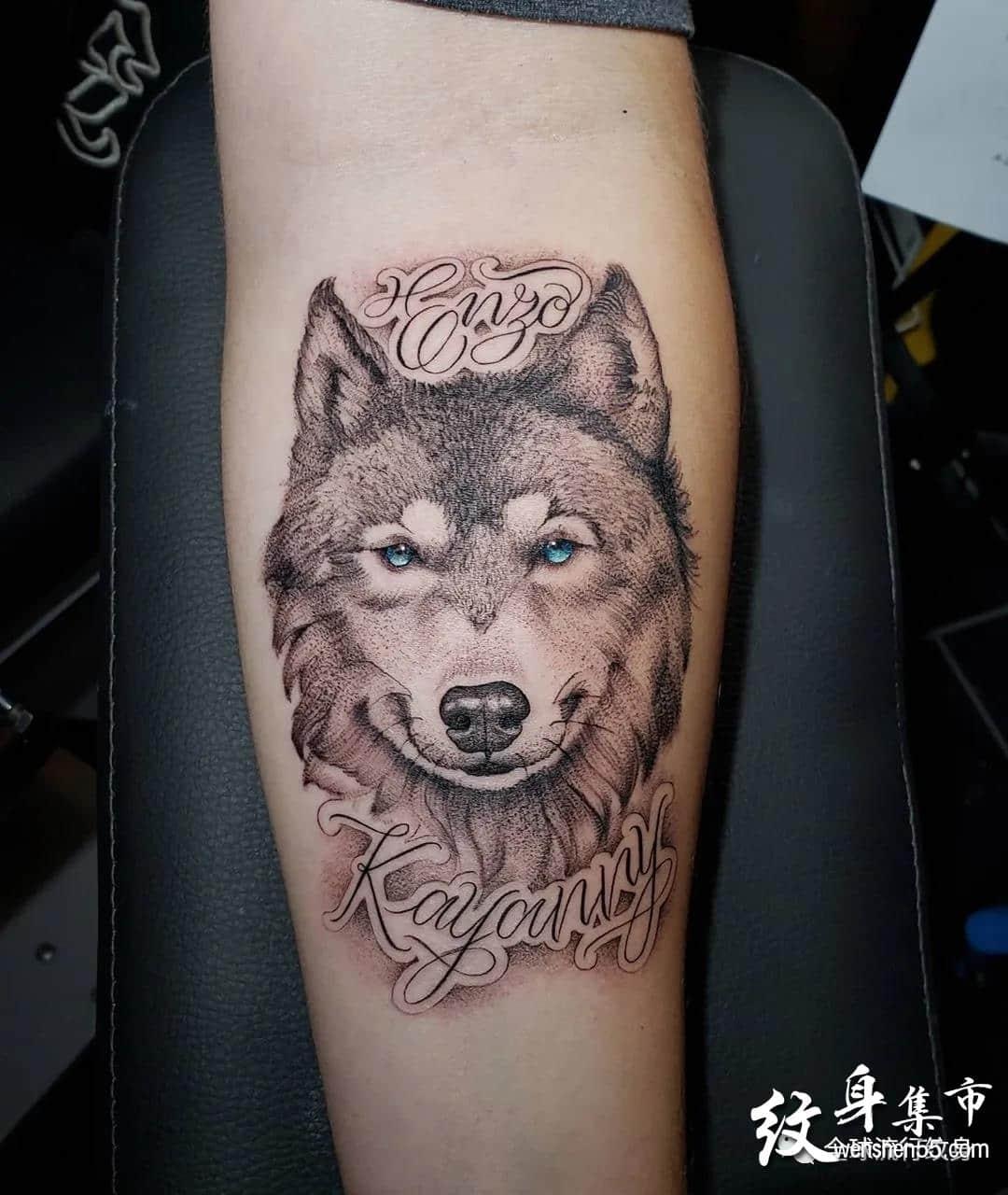 狼纹身,狼纹身手稿,狼纹身手稿图案