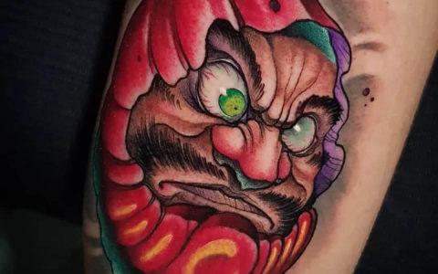达摩蛋纹身手稿图案