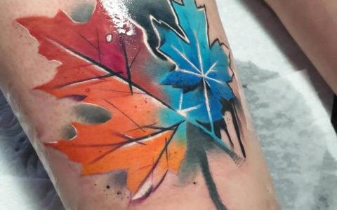 水彩纹身,水彩纹身手稿,水彩纹身图案
